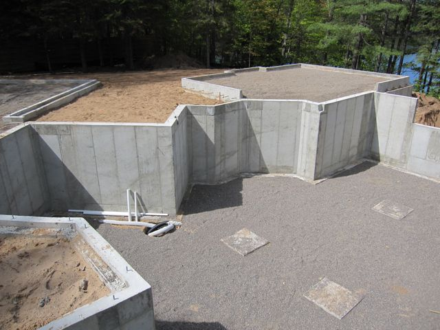 9 39 poured wall with waterproofing and 2 styrofoam on the for Styrofoam concrete walls
