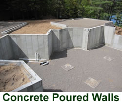 concrete poured walls